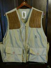 Bob Allen Shooting Vest Hunting Trap Skeet Canvas Leather Pad Large Minty Khaki