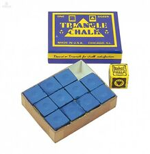 Billar tiza Triangle azul 12er Pack