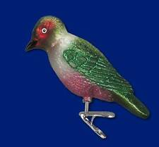 LEWIS'S WOODPECKER BIRD ON CLIP OLD WORLD CHRISTMAS AVIARY GLASS ORNAMENT 18111