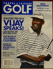 AUTOGRAPHED TRAVEL + LEISURE GOLF MAGAZINE  2005  PRO GOLFER VIJAY SINGH