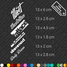 x6 Stance set - Illest fatlace low slow slammed daily driven decal vinyl - White