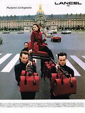PUBLICITE ADVERTISING 025  1994   LANCEL   sacs bagages de luxe  MME LIVINGSTONE
