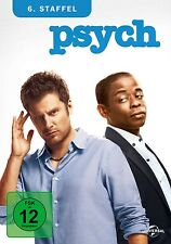 DULÉ HILL,TIMOTHY OMUNDSON JAMES RODAY - PSYCH SEASON 6 4 DVD NEU