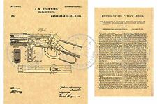 WINCHESTER/John BROWNING 1894 Lever Action Gun/Rifle PATENT Art Print PM#942