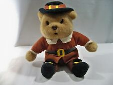 "TEDDY BEAR W/ HAT & BOOTS  Toy Child Soft Plush Cuddly Stuffed 10"" Tall Tan"