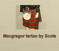 Scottish | Macgregor Tartan Heavy Kilt & Kilt Pin | Geoffrey
