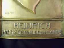 Georg Roch ANTIQUE SIGNED Bronze Sculpture Heinrich Prinzder Niederlande OBO OBO