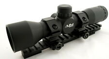 AIM 4X32 MIL DOT MINI SCOPE KIT FOR RUGER RANCH RIFLE WEAVER RAIL RINGS COMPLETE