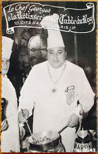 1940 Realphoto Advertising Postcard - Chef, Rotisserie de la Table du Roy, Paris