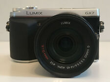 Panasonic LUMIX dmc-gx7 16mp Fotocamera Digitale-Argento-Con 14-45mm Lumix G Vario