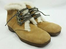 DUNHAMS ESKIPADES Canadian Suede Winter Lace-up Boots FUR WOMENS SIZE 7 NOS!