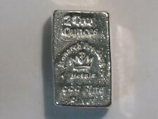 TWO TROY OUNCE HAND POURED 999 SILVER INGOT MONARCH PRECIOUS METALS 2 oz BAR MPM