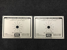 ALTEC N1500A X-OVER ALUMINUM PLATE PAIR