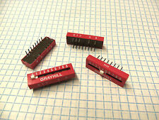 79B10T Grayhill 0-9 Binary BCD 10 Pos. DIP Switch Linear Coded Decimal Output