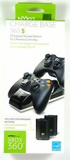 86074 NYKO Xbox 360 Wireless Controller Charging Dock (Black) with 2 batteries