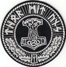 THORS HAMMER MOLJINOR THOR MIT UNS PATCH asatru viking odin rune norse mythology