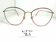 Nos Vtg 1980s Liberty Eyglass Frame Red Gold Gina 1958 Japan Womens (Lto-21)