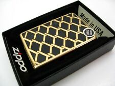 ZIPPO High POLISH Brass GOLD CHAIN Design Classic Windproof Lighter 28675 New!