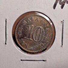 CIRCULATED 1973 10 SEN MALAYSIA COIN (82316)1