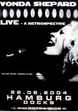 SHEPARD, VONDA - 2004 - Konzertplakat - Retrospective - Tourposter - Hamburg
