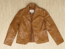 Wilsons Leather Maxima Brown Leather Jacket Women's Size Medium Button Front