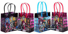 6 Pcs Monster High Authentic Licensed Reusable Small Party Favor Goodie Bags