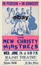 "New Christy Minstrels Rajah Theatre 16"" x 12"" Photo Repro Concert Poster"