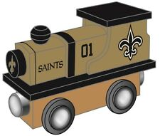 New Orleans Saints Wooden Toy Train [NEW] NFL Wood Christmas Kids Boys Gift Set