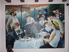 AUGUSTE RENOIR Le Déjeuner des canotiers HUILLE SUR TOILLE ( REPRODUCTION )
