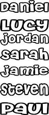 PERSONALISED NAMES BOYS & GIRLS BEDROOM DOOR WALL TOY BOX VINYL STICKER DECALS 1