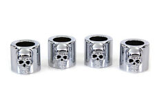 HARLEY FXR 1982 THRU 1994   PUSHROD COVER CUP SET SKULL CHROME