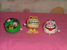 vintage MAD BALLS WIND-UP LOT x3 madballs Scremin Meemie Slobulus Skull Face