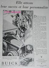 PUBLICITE AUTOMOBILE BUICK GENERAL MOTORS SUCCES ART DECO DE 1928 FRENCH AD CAR