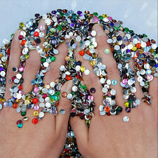 1000Pcs Mixed Color Acrylic Nail Art Glitter Rhinestone Nail Tool DIY Decoration