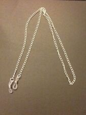 Silver Colour Metal Reading Glasses / Spectacles / Holder / Curb Chain. Gift Bag