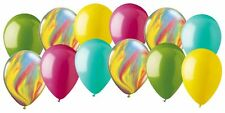 12 pc Circus & Carnival Inspired Agate Latex Balloons Party Decoration Candy