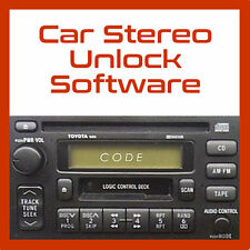 RECOVER LOST CAR AUDIO/RADIO/STEREO CODE CALCULATOR UNLOCK PROGRAM HELP PC/CD
