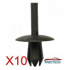 FORD MERCEDES CITROEN PEUGEOT RENAULT WHEEL ARCH COVER FASTENER x10 Black