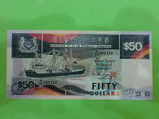 Singapore $50 Ship Series 1987 (PERFECT UNC) H/50 865352