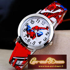 Montre Enfant - Rouge - Spiderman