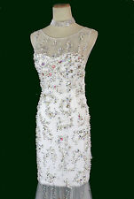 New Genuine Jovani 88087 White Wedding Bridal Formal Gown Size 10