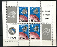 Romania 1969 SG#3685 Moon Landing Of Apollo 12 MNH Sheet #A61390