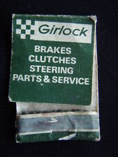 GIRLOCK BRAKES CLUTCHES STEERING PARTS & SERVICE ARMADALE BULLEEN MATCHBOOK