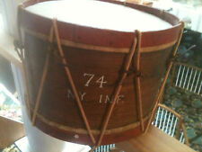 MILITARY DRUM AND STIXS, STIXS MARKED 1860