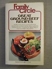 Family Circle Great Ground Beef Recipes 1978 Paperback