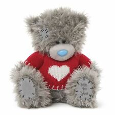 """Me to You 8"""" Knitted Heart Red Jumper Plush Bear - Tatty Teddy Valentines Gift"""