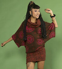 Da Donna Hippy Retrò Pullover made in Nepal fatto a mano Abito Pullover Casual