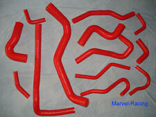 Toyota Starlet 4EFTE EP91 Turbo Silicone radiator hose coolant hose kit in RED