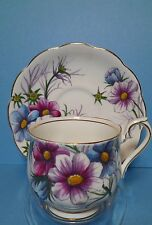 "Royal Albert hand painted cup & saucer Flower of the Month Series ""COSMOS"""