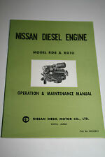 Nissan Diesel Engine Model RD8 & RD10 Operation & Maintenance Manual